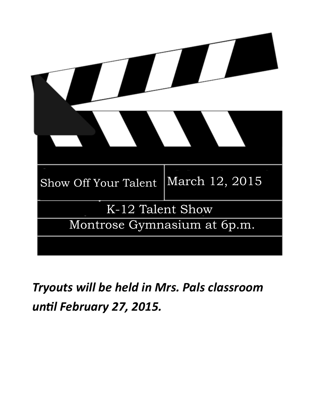 Montrose R-14 Schools - Talent Show Scheduled for March 12
